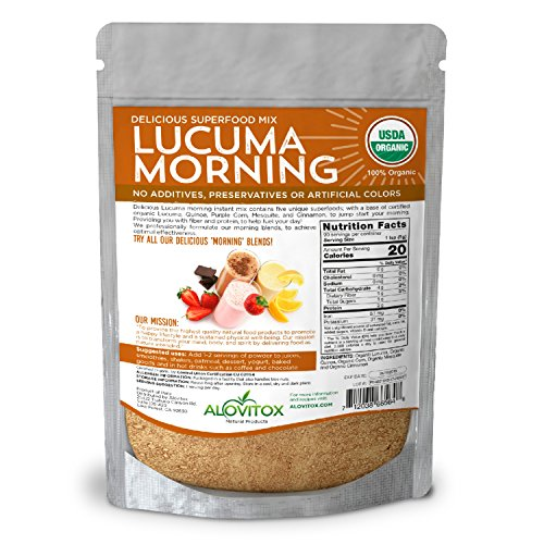 Lucuma Quinoa Mesquite Cinnamon Powder- Delicious Superfoods Mix Powder & Naturally Sweet -Certified Organic by Alovitox - 8oz - Pure Highest Quality Raw Gluten Free Vegan Non GMO by ALOVITOX (Image #2)'