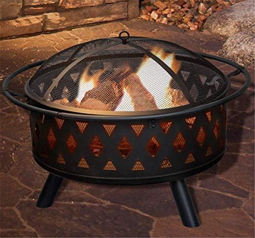 DHYBDZ Barbecue Grill, Foyer Multifonctionnel Barbecue Brasero Fournitures de Chauffage Camping Feu de Camp Foyer extérieur