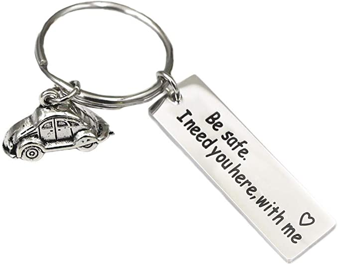 Keychain for Police Firefighter Pilot Military Be Safe I Need You Here with Me Police Officer Firefighter Gift