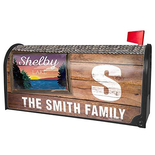 - NEONBLOND Custom Mailbox Cover Lake Retro Design Shelby Lake