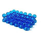 24 Blue Magnetic Push Pins - Perfect Magnets for Maps, Whiteboards, Calendars, and Refrigerators