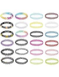 Choker Necklace Set Henna Tattoo Stretch Elastic Jewelry Women Girl 12-36PC Gift Pack