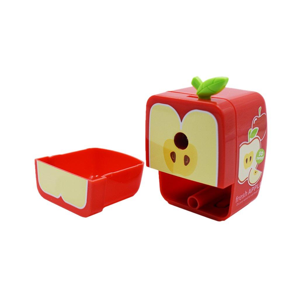 Kcopo Handapfelform Bleistiftspitzer Spitzmaschine Gehäuse Kurbel manuellen Desktop Schule Briefpapier Bleistiftspitzmaschine Kinder