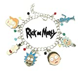 Rick and Morty TV Series Charm Bracelet w/Gift Box Adult Cartoon Scientist Science Cosplay Jewelry Series by Superheroes