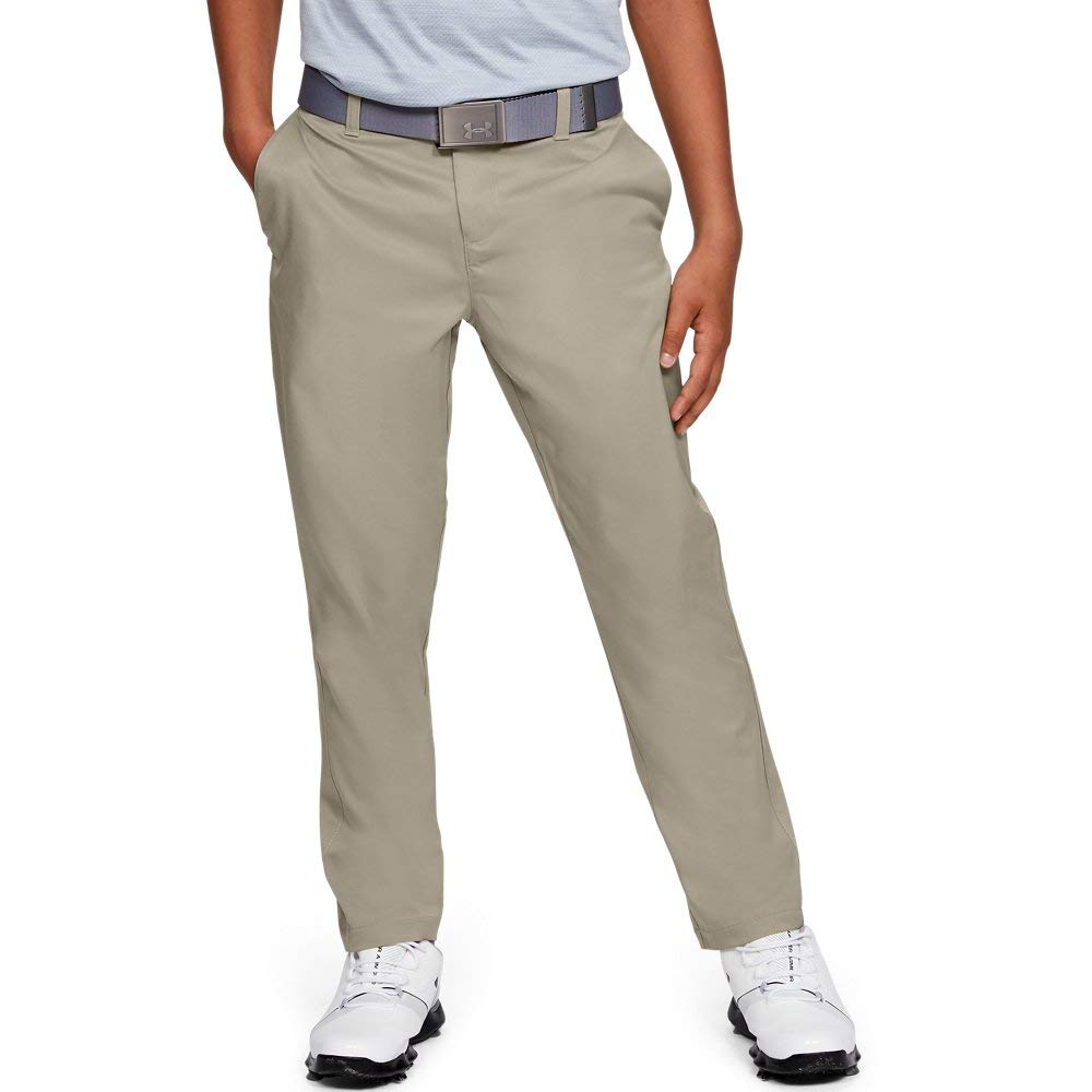 Under Armour Match Play 2.0 Golf Pants, Barley//Barley, 12 by Under Armour