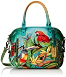 Anuschka Zip Top Satchel TBLS, Tropical Bliss, One Size