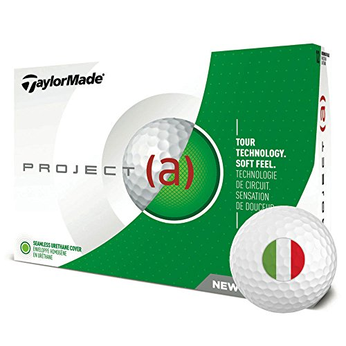 TaylorMade Project (a) Personalized National Flag Logo Golf Balls 2018 Italy 1 Dozen White by TaylorMade