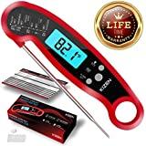 Kizen Instant Read Meat Thermometer- Best Waterproof Alarm Thermometer with Backlight & Calibration. Kizen Digital Food Thermometer for Kitchen, Outdoor Cooking, BBQ, and Grill!