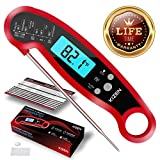 ConCase Digital Meat Probe Thermometer Quick Instant Read Foldable Gauge Cooking Tool