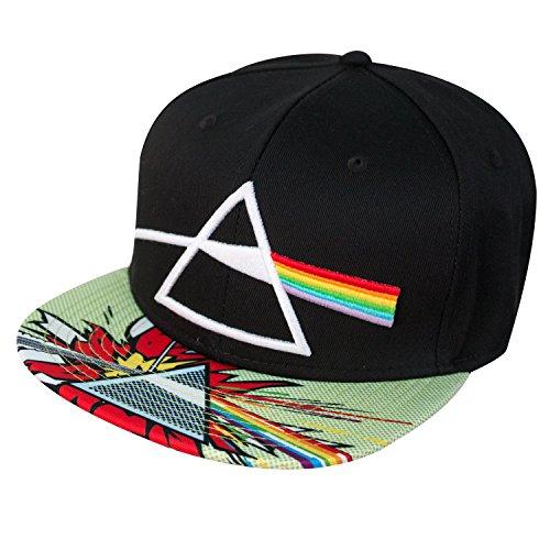 Pink Floyd Hats - Pink Floyd Sublimated Pop Art Flat Brim Snap Back Hat