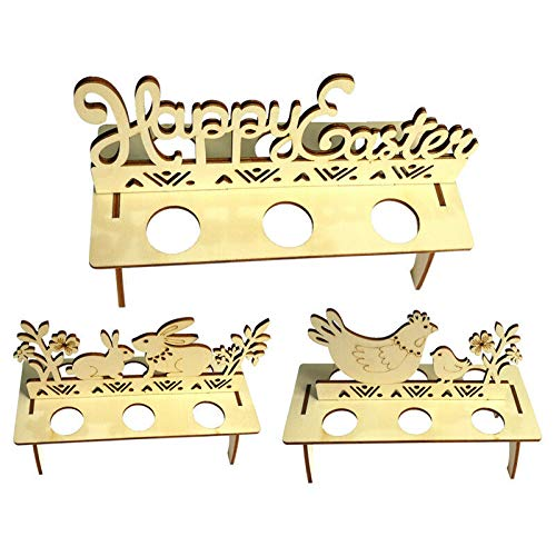 Bigmai Easter Egg Tray Holder, Cute Easter Egg Rack Tray Holder Slot Party Decorative Household Supplies Put Egg Storage Holders (Eggs not Including) by Bigmai (Image #2)