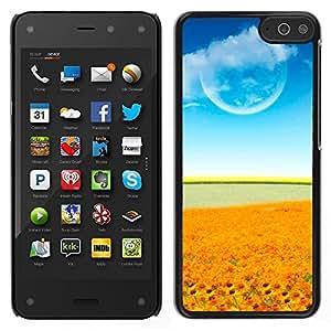 El cielo y su vegetación - Metal de aluminio y de plástico duro Caja del teléfono - Negro - Amazon Fire Phone