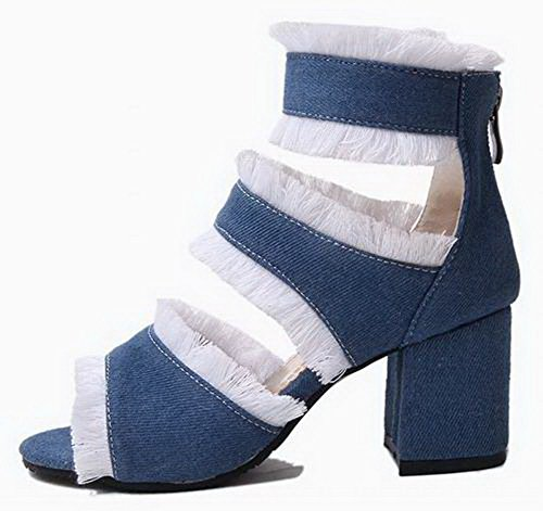 Women Heel Toe Open Mini Laces Nero Sandali Aalardom DressTsmlh006599 O08mnwvN