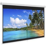 Best Choice Products Manual Projector Projection Screen Pull Down Screen, 119''L
