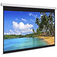 """Best Choice Products Manual Projector Projection Screen Pull Down Screen, 119""""L"""