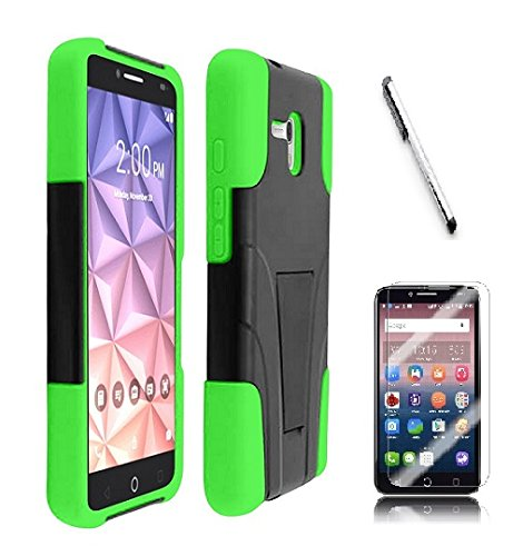 promo code d8f69 83420 For Alcatel One Touch PIXI Glory LTE A621BG Case, Luckiefind Hybrid Dual  Layer with Stand Case Cover, Stylus Pen, Screen Protector Accessory (Stand  ...