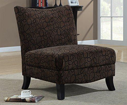 Amazon Com Monarch Specialties 8045 Swirl Fabric Armless