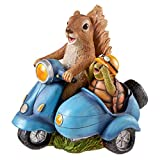 Design Toscano Born To Be Wild Squirrel On Motorcycle Statue, Full Color