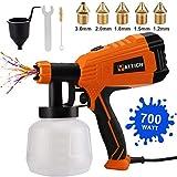 YATTICH Paint Sprayer, 700W HVLP High Power Spray