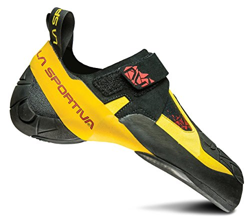 La Sportiva Men's Skwama Rock Climbing Shoe, Black/Yellow, 42