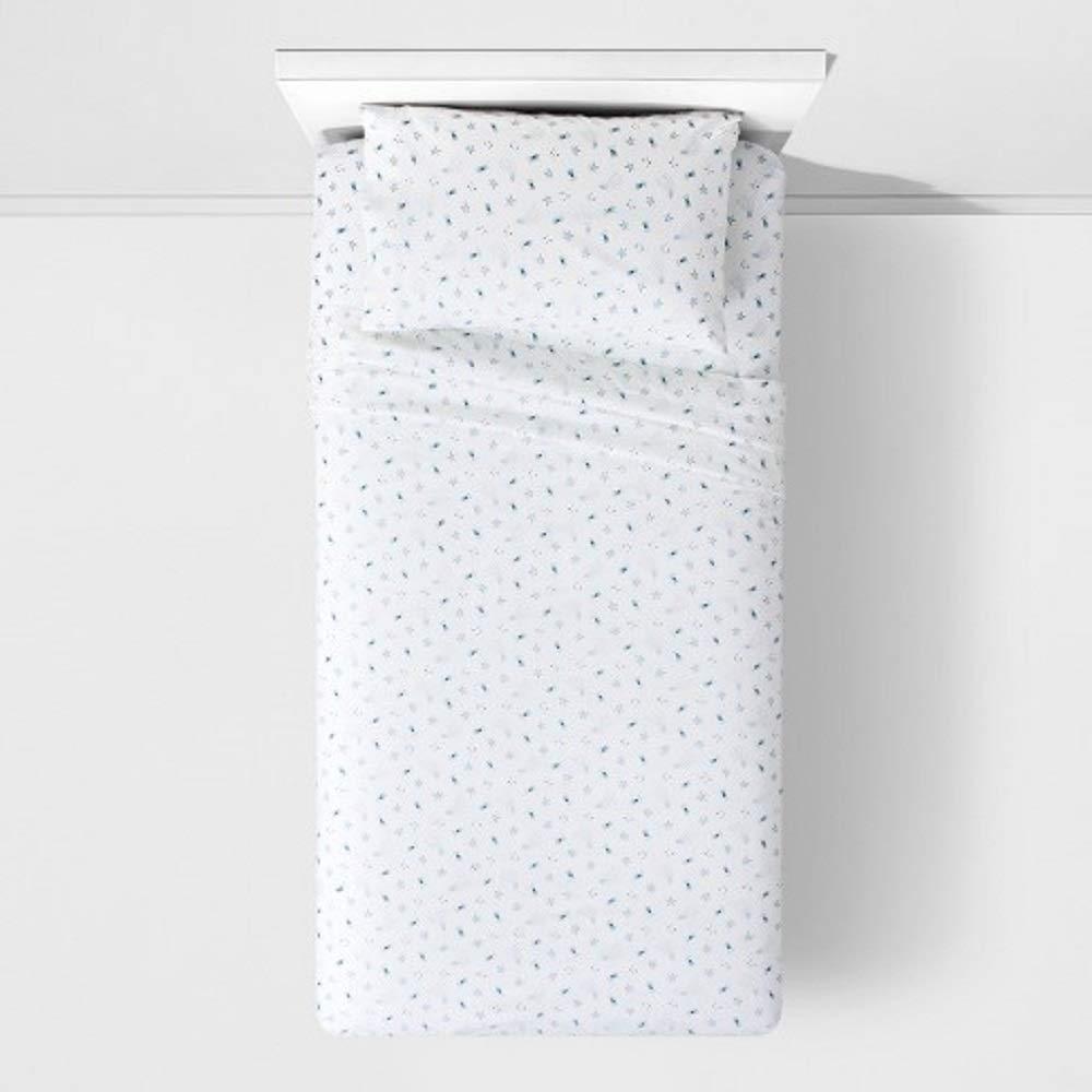 Pillowfort 幼児用 シューティングスター コットンシーツセット ブルー B07RSFVV8J