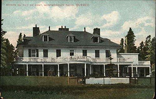 Amazon.com: Maison Du Duc De Kent Montgomery Falls, Quebec Canada Original  Vintage Postcard: Entertainment Collectibles