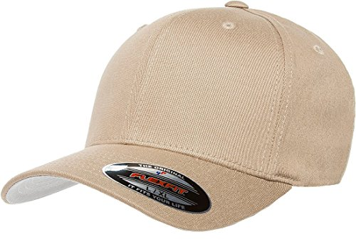 Flexfit THP Premium Cotton Twill Hat, Khaki, X-Large