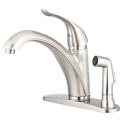Kitchen Faucets Brushed Nickel | Medina Kitchen Faucet Brushed Satin Nickel By Pacific Bay This
