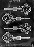 Cybrtrayd Life of the Party H050 Halloween Cute Ghost Lolly Chocolate Candy Mold in Sealed Protective Poly Bag Imprinted with Copyrighted Cybrtrayd Molding Instructions