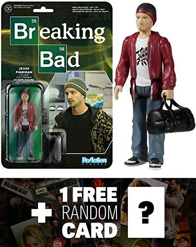Jesse Pinkman: Funko ReAction x Breaking Bad Action Figure + 1 FREE Official Breaking Bad Trading Card Bundle (54090)