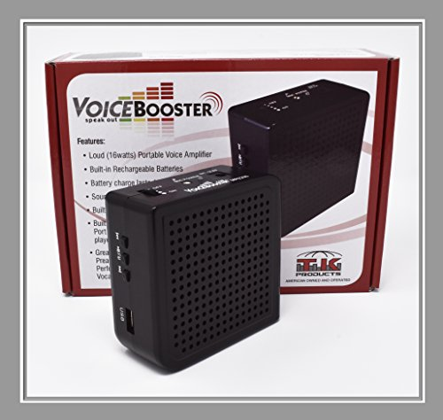 VoiceBooster Voice Amplifier & Mp3 Player 16watts Black MR2200 (Aker) by TK Products,Portable, for Teachers, Coaches, Tour Guides, Presentations, Costumes, Etc. by Voice Booster