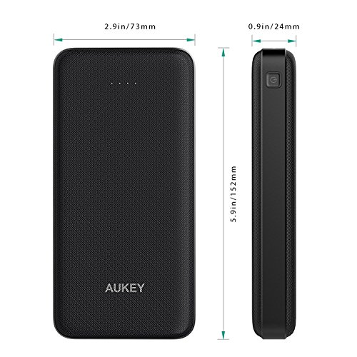 AUKEY 20000mAh vitality Bank twin USB moveable Charger by usually means of  5V 2A base Battery Pack for iPhone X 8 Plus Samsung Galaxy Note8 S8 and much more External Battery Packs