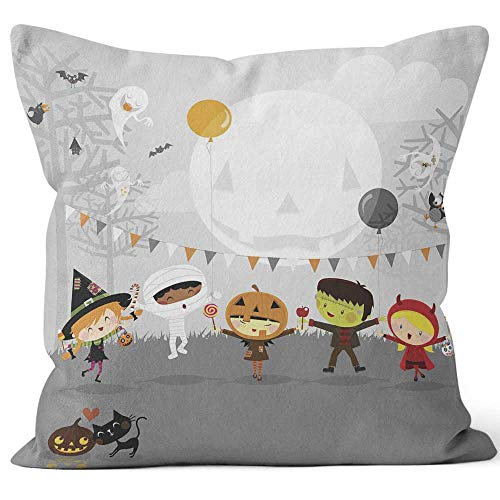 Nine City Halloween Party and Kids Costumes Sack Burlap Pillow,HD Printing Square Pillow case,26