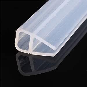 2M Silicona Ducha Pantalla Sellado Tira Deslizante Caucho Plástico Para Baño 6 / 8Mm Puerta Ventana Accesorios De Accesorios De Vidrio-8Mm: Amazon.es: Bricolaje y herramientas
