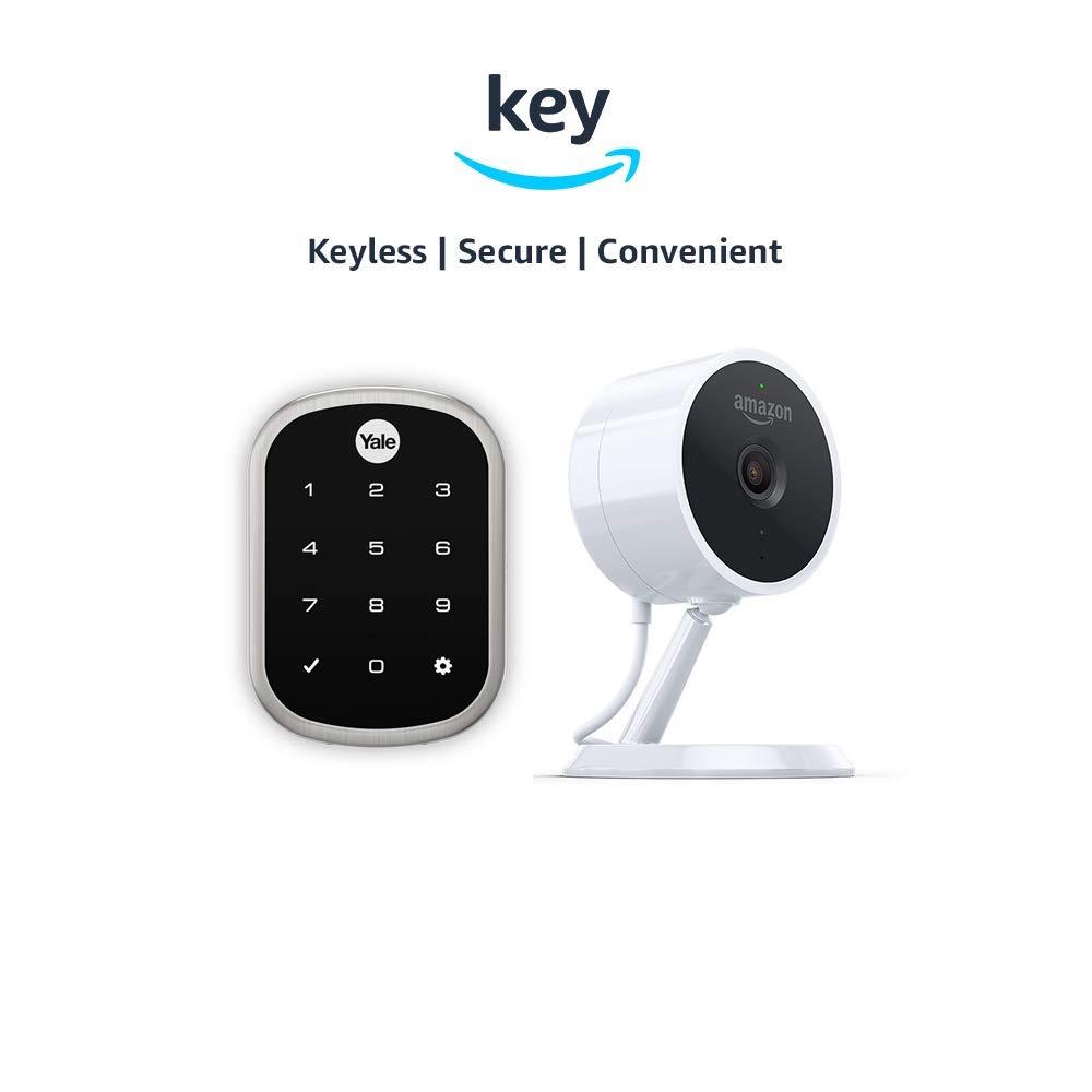 Yale Assure YRD256 SL Key Free Touchscreen Deadbolt + Amazon Cloud Cam | Key Smart Lock Kit (Satin Nickel) by Yale Security (Image #1)