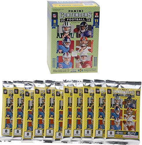 Sports Memorabilia 2018 Panini Contenders Football Factory Sealed 11 Pack Fanatics Exclusive Blaster Box - Football Wax Packs