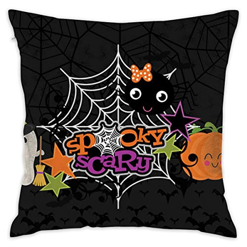 (JEKBH Pillow Case Halloween Ghost Pumpkin Wallpapers Novelty Cute Funny Soft and Cozy with Hidden Zipper 1pc Queen Size)