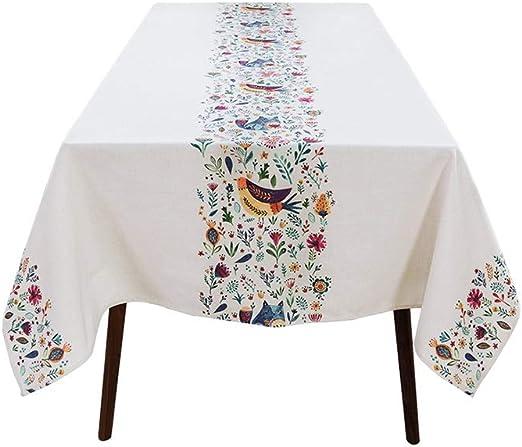 LIULAOHAN Mantel Rectangular, algodón y Lino Minimalista nórdico Mesa de Comedor/Mesa de Centro Mantel 3 tamaños Disponibles para Cocina Comedor/Decoración de Mesa/Fiesta Picnic (Size : 140 * 140): Amazon.es: Hogar