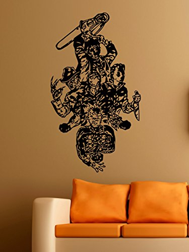 Freddy Krueger Vinyl Wall Decals Gang of Thugs Halloween Horror Decal Sticker Vinyl Murals Decors IL0153