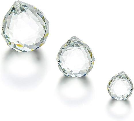 Opaque White 2 x Faceted Glass Ball Chandelier Sun-Catcher Pendant 30mm