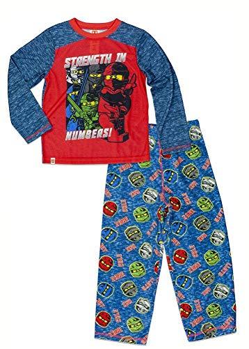 LEGO Boys' Team Ninjago 2-Pc Pajama Sleep Set, Red/Blue, 10/12 -