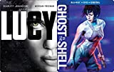 Steelbook Scarlett Johansson Sci-Fi Double Feature - Lucy & Ghost in the Shell Blu Ray + DVD + DHD Double Feature 2-Movie Set
