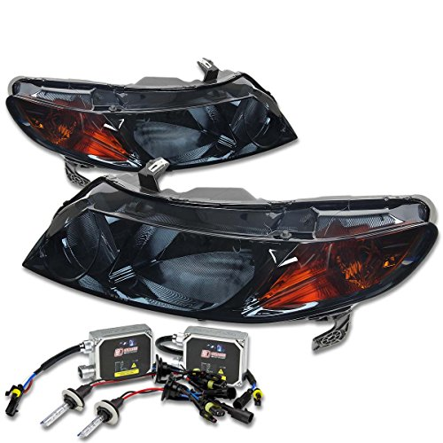 Smoke Lens Amber Reflector Headlight with 8000K HID & Thick Ballasts for Honda 8th Gen FD FA FG FK FN 4DR