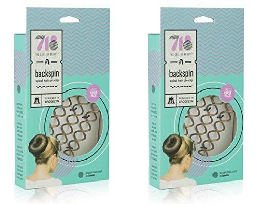 718-Beauty Backspin Spiral Hair Pin, Color Match for Light Hair, 8 Pins (Light)