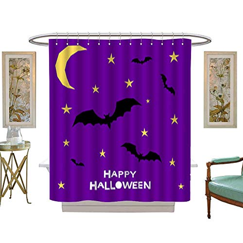 Bathroom Shower Happy halloween card template Abstract halloween pattern for design card party invitation poster album menu t shirt bag print etc 1. Mildew Water Repellent Shower Curtain W72 x H90 ()