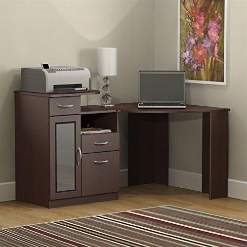 Bush Furniture Vantage Corner Desk, Harvest Cherry BUSM7