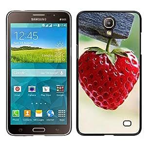 // PHONE CASE GIFT // Duro Estuche protector PC Cáscara Plástico Carcasa Funda Hard Protective Case for Samsung Galaxy Mega 2 / Strawberry /