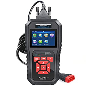 SEEKONE OBD2 Scanner, Professional Car Auto Diagnostic Code Reader OBDII & CAN Vehicle Engine O2 Sensor Systems EOBD Scanners Tool for all OBDII Protocol Cars Since 1996(Upgraded SK860)