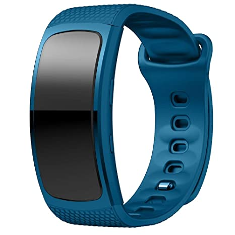 XingWangFa for Samsung Gear Fit 2 Pro/Fit2 Straps Bracelets Soft Silicone Sport Bracelet Replacement Strap for Samsung Gear Fit 2 Pro/Fit2 SmartWatch-Blue: ...
