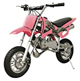 49cc 50cc 2-Stroke Gas Motorized Mini Dirt Pit Bike (Pink)